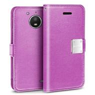 *SALE* Essential Leather Wallet Case for Motorola Moto E4 - Purple