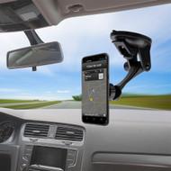 Magnetic In-Car Windshield Dashboard Mount Phone Holder - Black