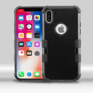 Military Grade Certified TUFF Merge Hybrid Armor Case for iPhone XS / X - Black