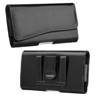 *SALE* Premium Leather Nylon Hip Pouch Case - Black 18971