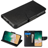 Diary Leather Wallet Case for iPhone XS / X - Black