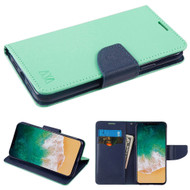 *SALE* Diary Leather Wallet Case for iPhone XS / X - Teal Green
