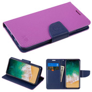 Diary Leather Wallet Case for iPhone XS / X - Purple