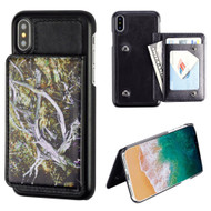 *SALE* Pocket Wallet Case with Card Stand for iPhone XS / X - Tree Camouflage