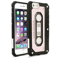 Vintage Cassette Anti-Shock Hybrid Armor Case for iPhone 6 Plus / 6S Plus - Rose Gold