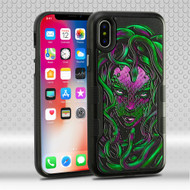 Military Grade Certified TUFF Contempo Hybrid Armor Case for iPhone XS / X - Medusa