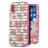 Verge Hybrid Armor Case for iPhone XS / X - Pink Fresh Roses