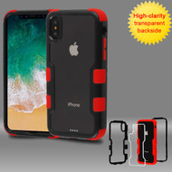 *SALE* TUFF Vivid Transparent Hybrid Armor Case for iPhone XS / X - Black Red