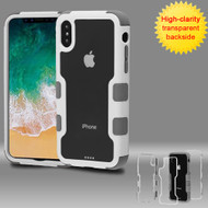 *SALE* TUFF Vivid Transparent Hybrid Armor Case for iPhone XS / X - Ivory White Iron Gray