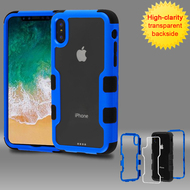 *SALE* TUFF Vivid Transparent Hybrid Armor Case for iPhone XS / X - Blue