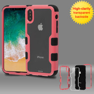 *SALE* TUFF Vivid Transparent Hybrid Armor Case for iPhone XS / X - Pink