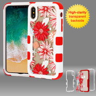 *SALE* TUFF Vivid Transparent Hybrid Armor Case for iPhone XS / X - Spring Daisies