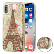 *SALE* Air Cushion Shockproof Crystal TPU Case for iPhone XS / X - Eiffel Tower