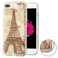 Air Cushion Shockproof Crystal TPU Case for iPhone 8 Plus / 7 Plus - Eiffel Tower
