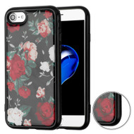 Air Cushion Shockproof Crystal TPU Case for iPhone 8 / 7 - Red and White Roses