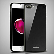 *SALE* Minimalistic TPU Case with Tempered Glass Backing for iPhone 8 Plus / 7 Plus - Black
