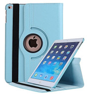 360 Degree Smart Rotating Leather Case for iPad (2018/2017) / iPad Air / iPad Air 2 - Baby Blue