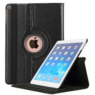 360 Degree Smart Rotating Leather Case for iPad (2018/2017) / iPad Air / iPad Air 2 - Black