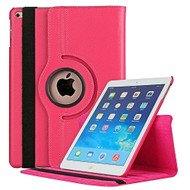 360 Degree Smart Rotating Leather Case for iPad (2018/2017) / iPad Air / iPad Air 2 - Hot Pink