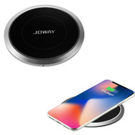 Mirror Slim Aluminum Wireless Charger Qi Inductive Charging Pad - Silver
