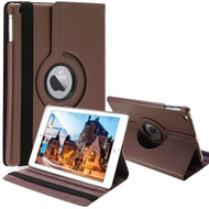360 Degree Smart Rotating Leather Case for iPad (2018/2017) / iPad Air / iPad Air 2 - Brown