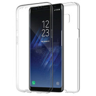 Anti-Scratch 360 Front and Back Full Body Protection Transparent TPU Case for Samsung Galaxy S8 - Clear