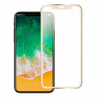 *Sale* Titanium Alloy 3D Curved Full Coverage Tempered Glass Screen Protector for iPhone XS / X - Gold