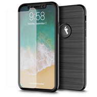 *SALE* 360 Full Body Protection Fusion Case with Tempered Glass Screen Protector for iPhone XS / X - Black