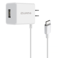 USB-C (Type-C) Connect Travel AC Wall Charger with USB Charging Port - White