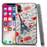 *SALE* Tough Anti-Shock Triple Layer Hybrid Case for iPhone XS / X - Eiffel Tower