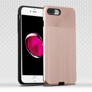 Double Texture Anti-Shock Hybrid Protection Case for iPhone 8 Plus / 7 Plus - Rose Gold