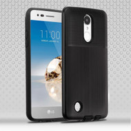 Double Texture Anti-Shock Hybrid Protection Case for LG Aristo / Fortune / K8 (2017) / Phoenix 3 - Black