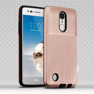 Double Texture Anti-Shock Hybrid Protection Case for LG Aristo / Fortune / K8 (2017) / Phoenix 3 - Rose Gold