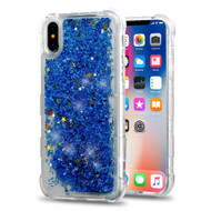 Tuff Lite Quicksand Glitter Transparent Case for iPhone XS / X - Blue