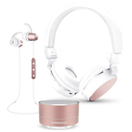HyperGear Bluetooth Wireless Bundle Gift Set - Rose Gold
