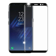 3D Curved Full Coverage Premium HD Tempered Glass Screen Protector for Samsung Galaxy S8 - Black