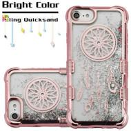 Tuff Lite Quicksand Glitter Electroplating Transparent Case for iPhone 8 / 7 / 6S / 6 - Dreamcatcher Rose Gold