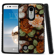 Tough Anti-Shock Triple Layer Hybrid Case for LG Aristo / Fortune / K8 (2017) / Phoenix 3 - Lucky Flower