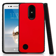 Tough Anti-Shock Hybrid Protection Case for LG Aristo / Fortune / K8 (2017) / Phoenix 3 - Red