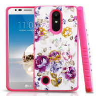 Tough Anti-Shock Hybrid Protection Case for LG Aristo / Fortune / K8 (2017) / Phoenix 3 - Violet Flowers