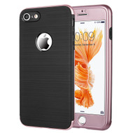 360 Full Body Protection Fusion Case with Tempered Glass Screen Protector for iPhone 8 / 7 - Rose Gold