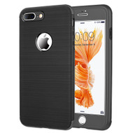 360 Full Body Protection Fusion Case with Tempered Glass Screen Protector for iPhone 8 Plus / 7 Plus - Black