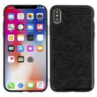 Two-Tone Sparkle Sequins Case for iPhone XS / X - Black