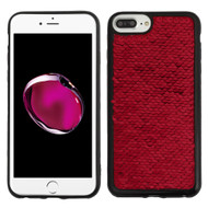 Two-Tone Sparkle Sequins Case for iPhone 8 Plus / 7 Plus / 6S Plus / 6 Plus - Red