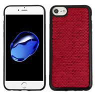 Two-Tone Sparkle Sequins Case for iPhone 8 / 7 / 6S / 6 - Red