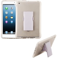 Transparent TPU Case with Bumper Reinforcement and Detachable Stand for iPad Mini 4 - White