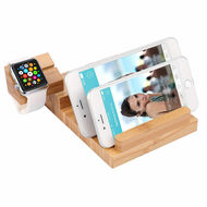 *SALE* Bamboo Wood Desktop Charger 3 USB Ports 3A Charging Station with Detachable Apple Watch Dock