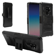 *Sale* Advanced Armor Hybrid Kickstand Case with Holster for Samsung Galaxy S9 Plus - Black
