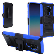 *Sale* Advanced Armor Hybrid Kickstand Case with Holster for Samsung Galaxy S9 Plus - Black Blue