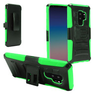 *SALE* Advanced Armor Hybrid Kickstand Case with Holster for Samsung Galaxy S9 Plus - Black Green
